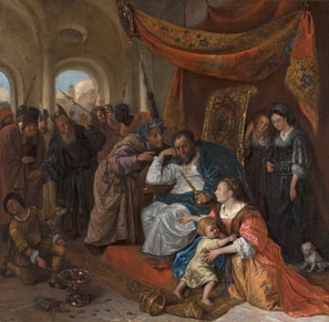 (Photo: Jan Steen, Moses and Pharaoh's Crown, c.1670, Mauritshuis, The Hague)